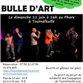 La Troupe de Bulle d'Art au Phare de Tournefeuille le dimanche 11 Juin à 16h !